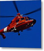 Coast Guard Helicopter Metal Print by Stocktrek Images