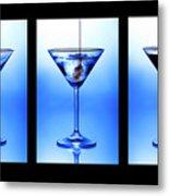 Cocktail Triptych Metal Print by Jane Rix