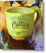 Coffee Cup Metal Print by Jai Johnson