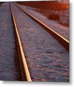 Cold Line Sunset Metal Print by Jame Hayes