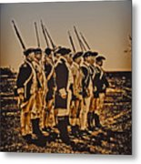 Colonial Soldiers On Parade Metal Print by Bill Cannon