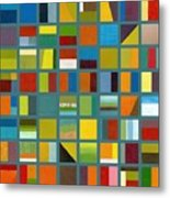 Color Study Collage 67 Metal Print by Michelle Calkins