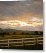 Colorado Rocky Mountain Country Sunset Metal Print by James BO  Insogna