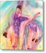 Colorful Dance Metal Print by John YATO