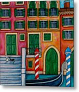 Colours Of Venice Metal Print by Lisa  Lorenz