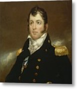Commodore Oliver Hazard Perry Metal Print by John Wesley Jarvis