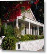 Conch House In Key West Metal Print by Susanne Van Hulst