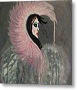 Concrete Angel Metal Print by LKB Art and Photography