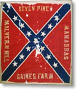 Confederate Flag Metal Print by Granger