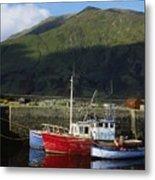 Connemara, Co Galway, Ireland Fishing Metal Print by The Irish Image Collection