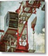 Construction Crane Metal Print by Wim Lanclus