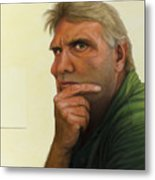 Contemplating The Blank Page Metal Print by James W Johnson