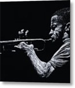 Contemporary Jazz Trumpeter Metal Print by Richard Young