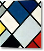 Contracomposition Of Dissonances Metal Print by Theo van Doesburg