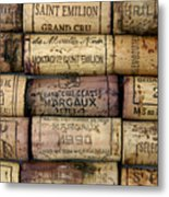 Corks Of French Wine Metal Print by Bernard Jaubert