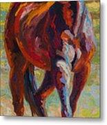 Corral Boss - Mustang Metal Print by Marion Rose