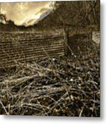 Corrugated Tin Pen Metal Print by Meirion Matthias