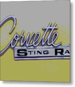 Corvette Emblem Metal Print by Audrey Venute