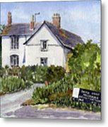 Cottages At Binsey. Nr Oxford Metal Print by Mike Lester