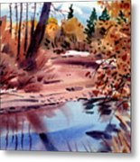 Cottonwoods In October Metal Print by Donald Maier
