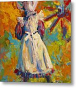 Country Girl Metal Print by Marion Rose