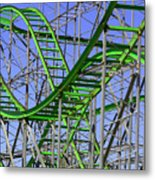 County Fair Thrill Ride Metal Print by Joe Kozlowski