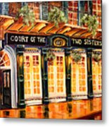 Court Of The Two Sisters Metal Print by Diane Millsap