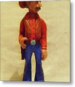 Cowboy Rancher Metal Print by Russell Ellingsworth