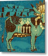 Cowchina Metal Print by Laura Brightwood