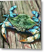 Crabby Blue Metal Print by Dianne Parks