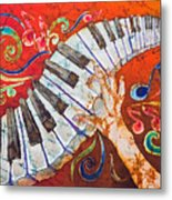 Crazy Fingers - Piano Keyboard  Metal Print by Sue Duda