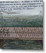 Crescent City Dis-connect Metal Print by Beverly Kimble Davis