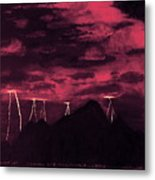 Crimson Storm Metal Print by Dawn Hay