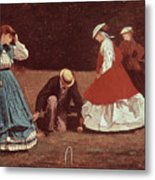 Croquet Scene Metal Print by Winslow Homer