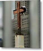 Cross At Ground Zero Metal Print by Frank Mari