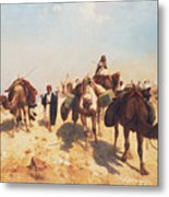 Crossing The Desert Metal Print by Jean Leon Gerome