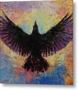 Crow Metal Print by Michael Creese