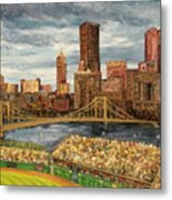 Crowded At Pnc Park Metal Print by E E Scanlon