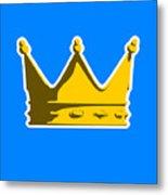Crown Graphic Design Metal Print by Pixel Chimp