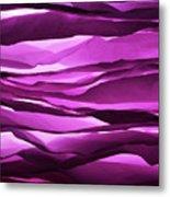 Crumpled Sheets Of Purple Paper. Metal Print by Ballyscanlon