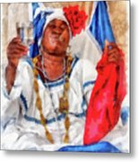 Cuban Character Metal Print by Dawn Currie
