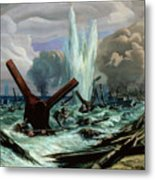 D Day Metal Print by Orville Norman Fisher