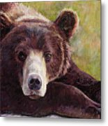 Da Bear Metal Print by Billie Colson