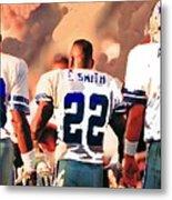 Dallas Cowboys Triplets Metal Print by Paul Van Scott