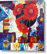 Dance Of The Daisies Metal Print by Terry Honstead