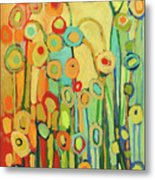 Dance Of The Flower Pods Metal Print by Jennifer Lommers