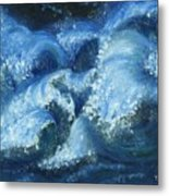Dance Of The Stormy Sea Metal Print by Tanna Lee M Wells