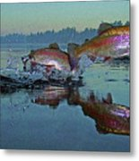 Dance Of The Trout Metal Print by Brian Pelkey