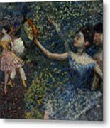 Dancer With A Tambourine Metal Print by Edgar Degas