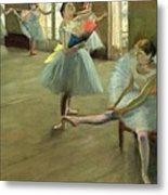 Dancers In The Classroom Metal Print by Edgar Degas